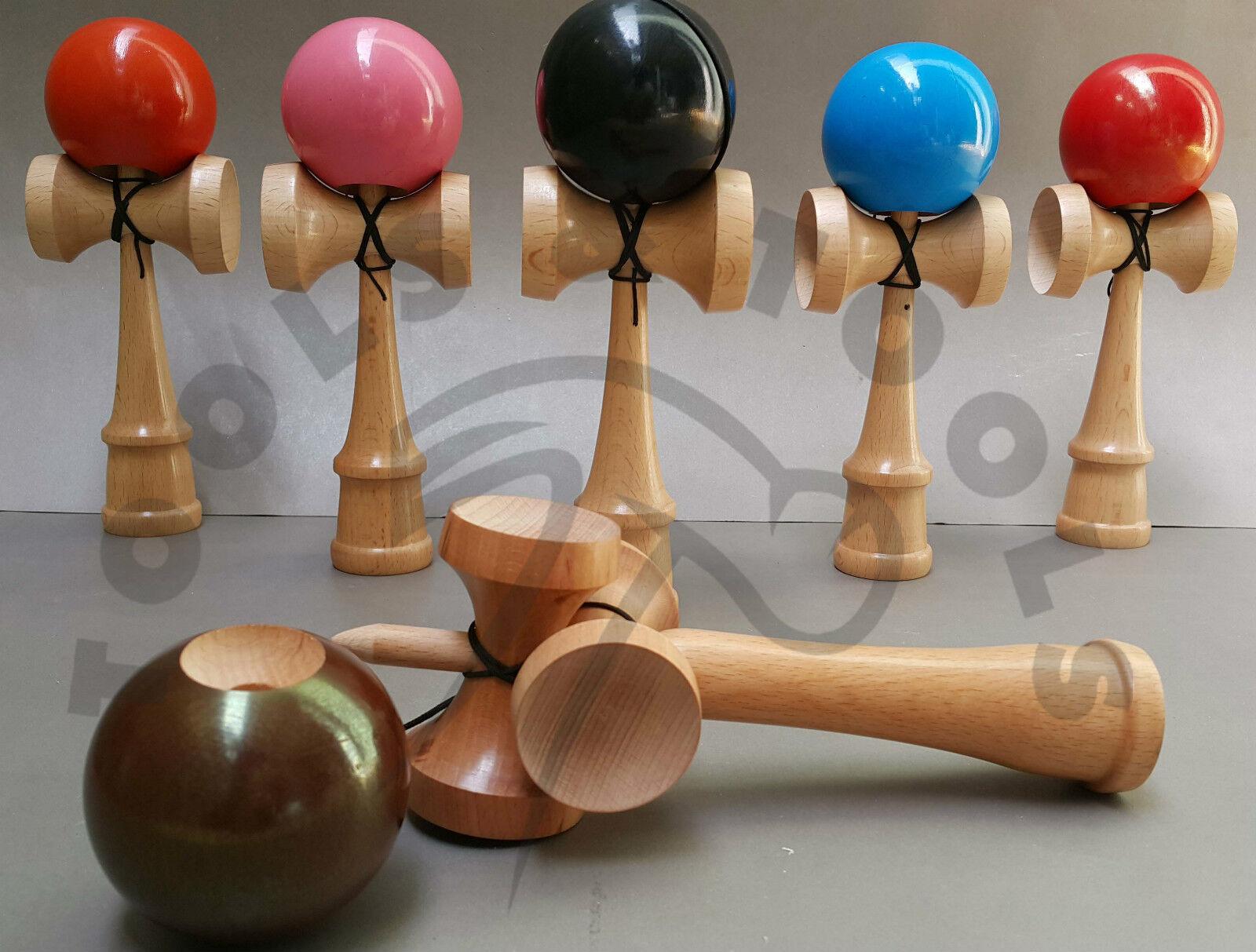 6 Stk Holz Kendama Set Buchenholz Wettbewerb Spec Spielzeug glänzende Oberfläche