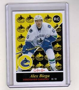 15-16-OPC-Vancouver-Canucks-Alex-Biega-Retro-Rookie-card-503