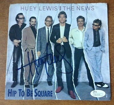 HUEY LEWIS AND THE NEWS SIGNED SPORTS ALBUM COVER W//COA VINYL RECORD LP LEGEND