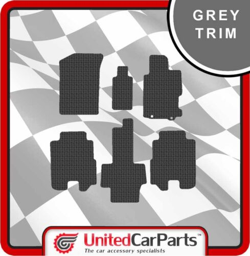 2004-2010 RUBBER CAR MATS WITH GREY TRIM GENUINE UCP 1113 HONDA FRV