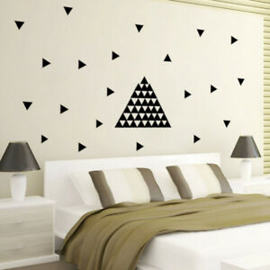 Image Is Loading Ee 48set Triangle Diy Wall Sticker Decals Self