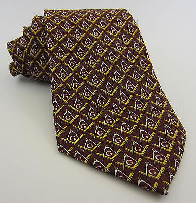 Masonic Tie Green Gold Square /& Compasses Polyester Poly Freemason Mason