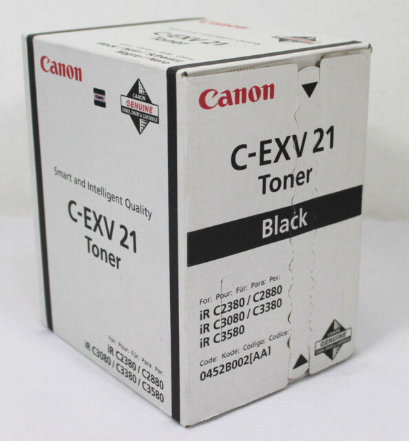 CANON C-EXV 21 Black Genuine Canon C2380 C2880 C3080 C3380 C3580 Toner Cartridge