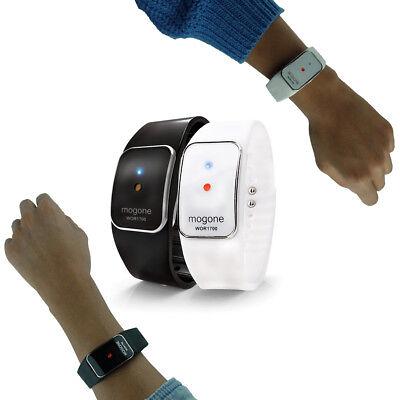 MOGONE S Black Ultrasonic Mosquito Repelling wrist band