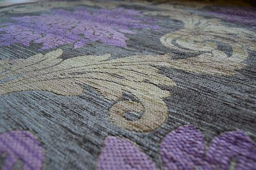 Parker Knoll Bolero Medallion Purple Chenille Upholstery Sofa Fabric Caravan