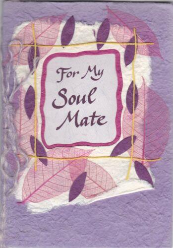 Pour mon âme soeur Blue Mountain Arts sculptés Carte