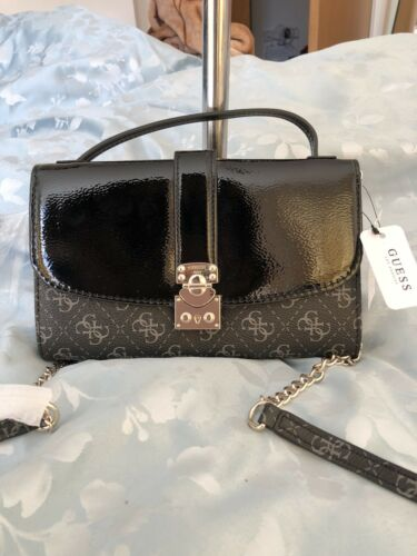 3 of 12 Genuine BNWT GUESS Cross Body Bag Signature Logo Wallet Chain RRP  £125 50eeed0e2d