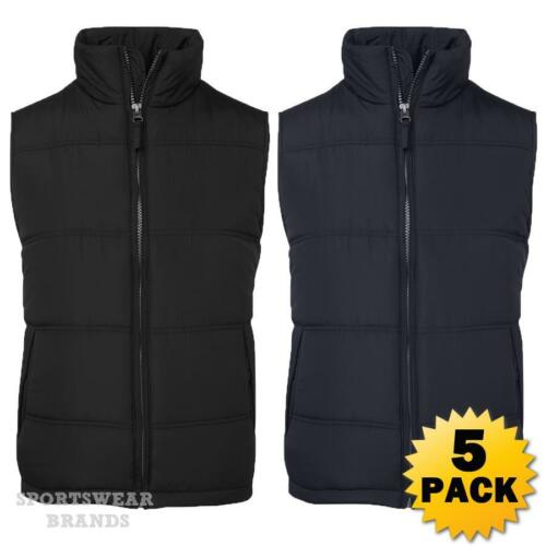 5 x Adults Adventure Vest Puffy Warm Sports Casual Mens Winter Black Navy 3ADV