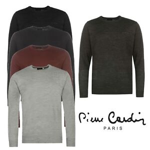 Mens-Crew-Neck-Jumper-Knit-Sweater-Pierre-Cardin-Top-Casual-Pullover-Knitwear