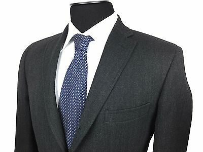 RALPH LAUREN Mens 40R Charcoal Gray Herringbone Tweed 2-Button Sport Coat/Jacket