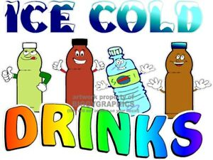 ICE-COLD-DRINKS-DIECUT-FUN-VINYL-DECAL-CHOOSE-A-SIZE-STANDS-BOARDWALK-SHOPS