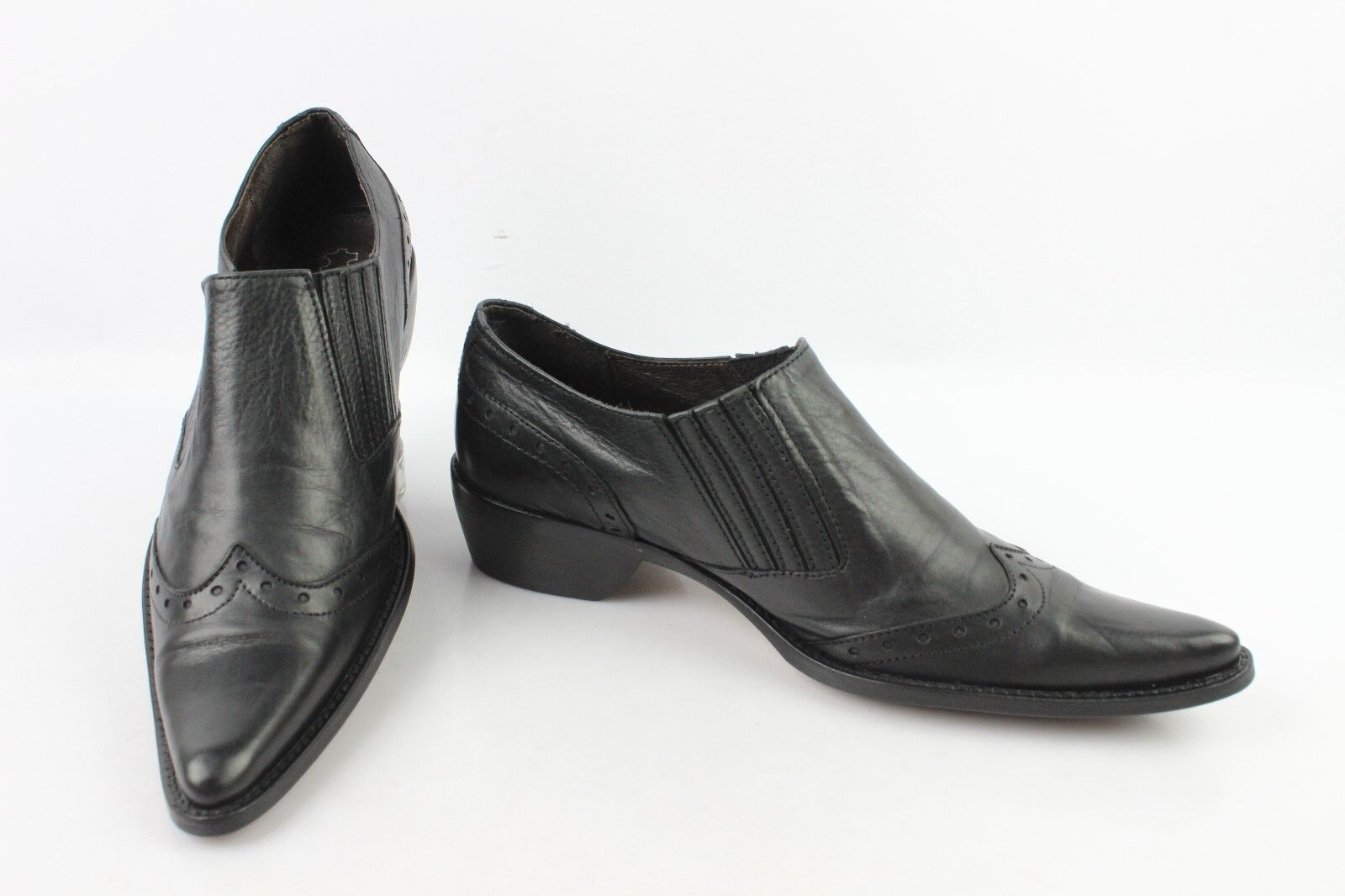 Boots Sharp  pointed CONTRE PIED Black Leather T 36 VERY GOOD CONDITION