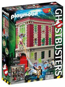 PLAYMOBIL-9219-Ghostbusters-Feuerwache-NEU-amp-OVP-Egon-Spengler-Janine-Louis