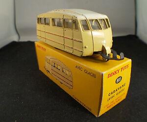 """Dinky Toys F n° 811 caravane avec glaces en boite - France - État : Occasion : Objet ayant été utilisé. Consulter la description du vendeur pour avoir plus de détails sur les éventuelles imperfections. Commentaires du vendeur : """"d'usage"""" - France"""