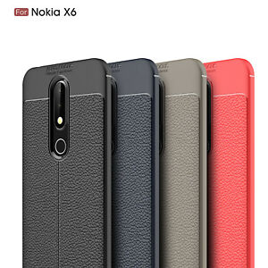 low priced e1f75 8c26a Details about For Nokia 6.1 Plus (Nokia X6) Ultra Thin PU Leather Soft TPU  Shockproof Case