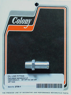 Colony Machine #9848-9 Banjo Style Oil Feed Line Fitting CAD Harley Knucklehead