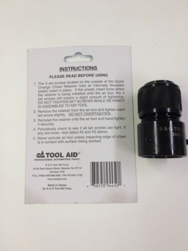 S /& G Tool Aid 94450 Quick Change Chisel Retainer for IR Products