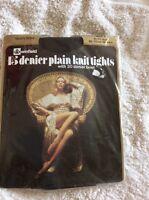 Vintage Winfield 15 Denier Plain Knit Tights Nearly Black Hips 39-44
