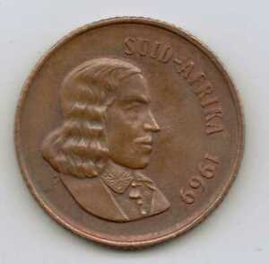 SOUTH-AFRICA-2-Cents-Afrikaans-Legend-1969-Bronze-4-0-g-22-45-mm