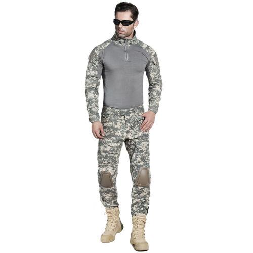US Army Tactical Military Combat Uniform Suit Pant G3 Airsoft GEN3 Camo BDU ACU