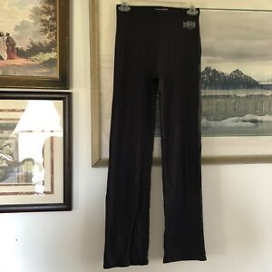 Crunch Womens Sz M Black Stretch Athletic Workout Pants Tactel A44