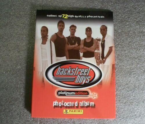 BACKSTREET BOYS Platinum Edition Photocard Album NEW with pages /& checklist