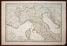 carte geographique originale de l'ITALIE DU NORD CORSE par DELAMARCHE 1832