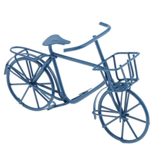 Dolls House Miniature Blue Metal Bicycle Bike Garden Porch Decor 1:12 Scale