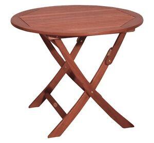 Gartentisch holz rund  Gartentisch Holz rund Klapptisch klappbar Holztisch Esstisch ...