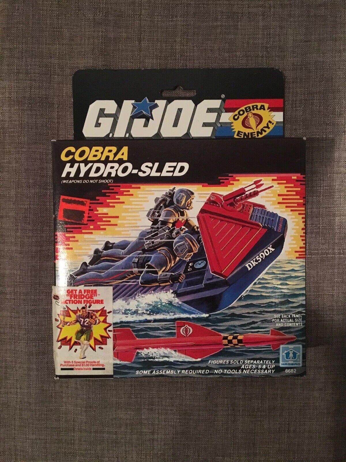 GI Joe 1986 Cobra Hydro-Sled MISB Sealed Vintage