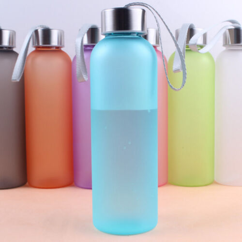 600ML Frosted Portable Outdoor Camping Cycling Travel Sports Water Bottle 34CA