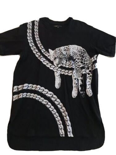 Maje Paris Oversized Leopard Black T-shirt Tunic T
