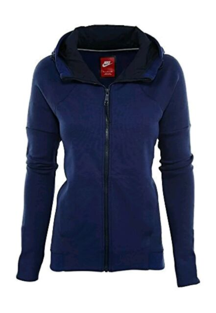 NEW Nike Tech Fleece Full Zip Hoodie Womens Style 806329-457 Size XS Blue b090880d06