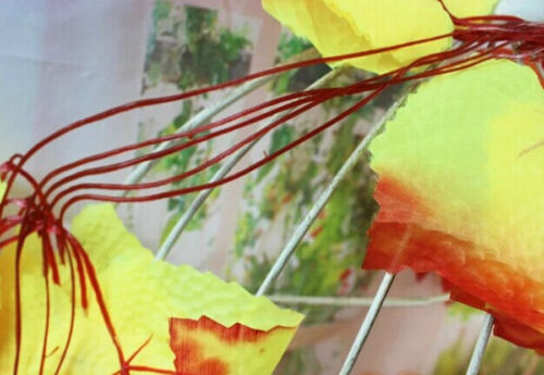 10x Green Red Vine leaves Maple Salix Ivy// 12x Purple White Wisteria Floral
