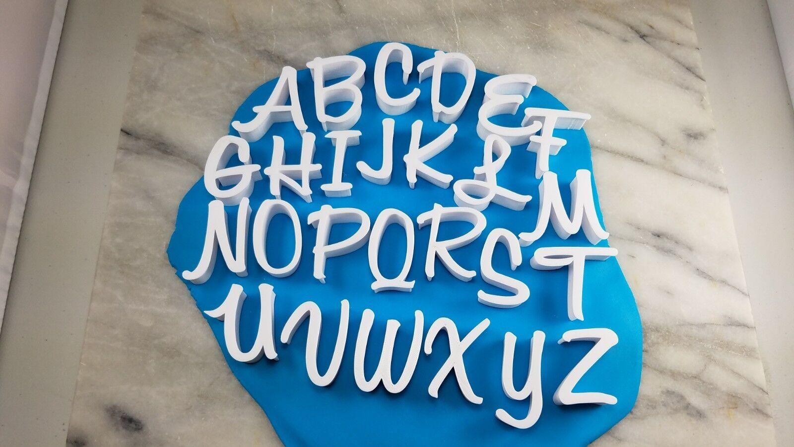 Honey Script COOKIE STAMPS, Entire Set, CHOOSE YOUR OWN Größe  Alphabet