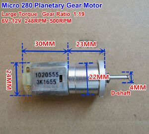 DC 6V 12V 180RPM Large Torque Micro 25mm Full Metal Gearbox Gear Motor DIY Robot