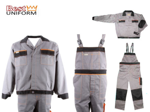 Lavoro patta pantaloni//giacca lavoro sicurezza lavoro Pantaloni Pantaloni Pantaloni patta GRIGIO Art-Comp