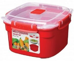 Sistema-1-4L-Small-Square-Steamer-Removable-Basket-Microwave-Steam-Vegetables