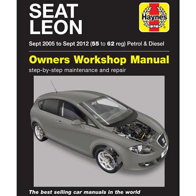 Seat Leon Haynes Manual Sep 2005 12 Workshop Manual Mk2 Inc Cupra Cupra R Ebay