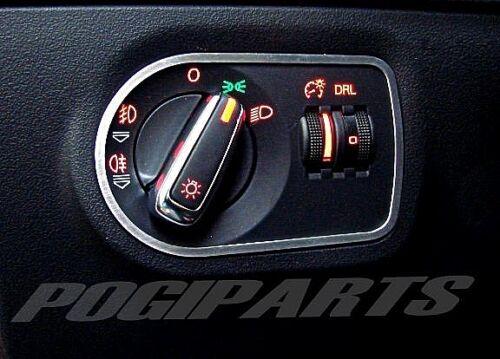 Audi TT MK2 Zierrahmen Lichtschalter Alu quattro s-line 8J TTs TTRS 3.2 3,2