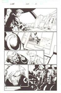 X-Men # 202 P.2 - Cannonball & Iceman - 2007 Unterzeichnet Kunst Von Humberto