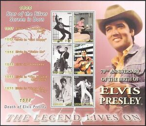 Grenada-2005-Elvis-Presley-Music-Cinema-People-Guitar-Movies-6v-m-s-n40893