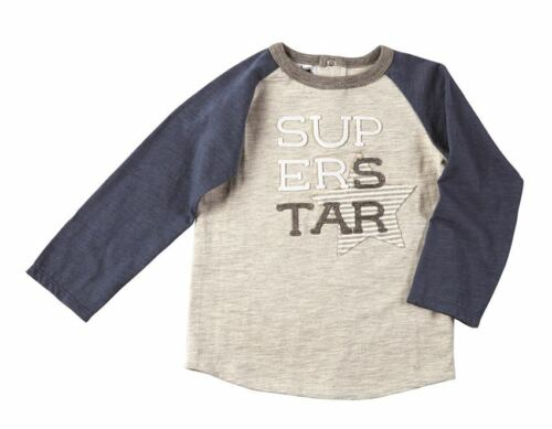 NWT Mud Pie Super Star Boys Blue Long Sleeve Shirt 2T//3T 4T//5T