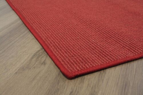 Sisal Rug with Linking Red 250x300cm 100/% Sisal Looped