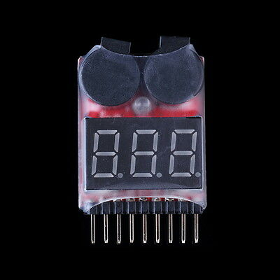 Hot RC Lipo Battery Low Voltage Alarm 1S-8S Buzzer Indicator Checker Tester LED