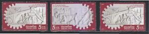 THAILAND 2013 100 YEARS OF THAI ENGINEERING (EMBOSSED) COMP. SET OF 3 STAMPS MNH