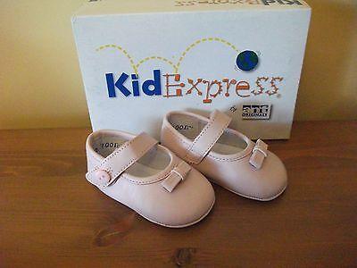 Chicas kidexpress 750 'Jane' Cuero Rosa Gancho/Lazo Cochecito de Niño Zapatos UK 2.5 EUR 17! nuevo!