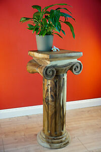 florero-madera-mesa-maciza-de-COLUMNA-podest-Auxiliar-Suar