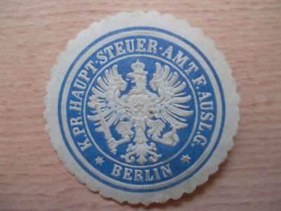 Berlin GroßEs Sortiment Siegelmarke 12771 Haupt-steuer-amt F G Pr Ausl K