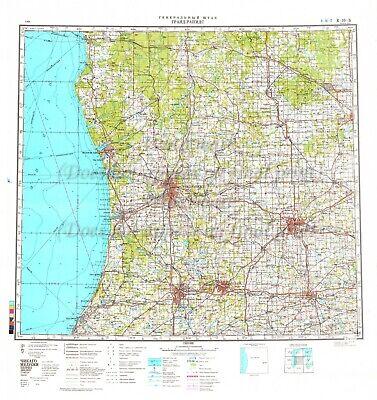 Soviet Russian Army Topographic Map Grand Rapids Michigan Usa Ed 1983 Reprint Ebay